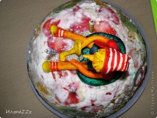 Прочитала МК Оли и Ко и тоже решила украсить торт рукотворной  фигуркой из маршмеллоу. http://stranamasterov.ru/node/262955 фото 3