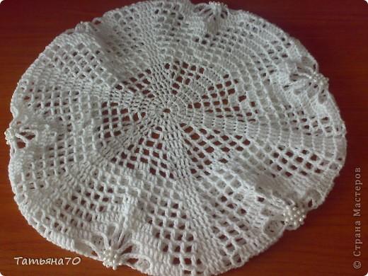 Вот такой беретик я связала для дочери на лето из пряжи soft cotton. фото 2