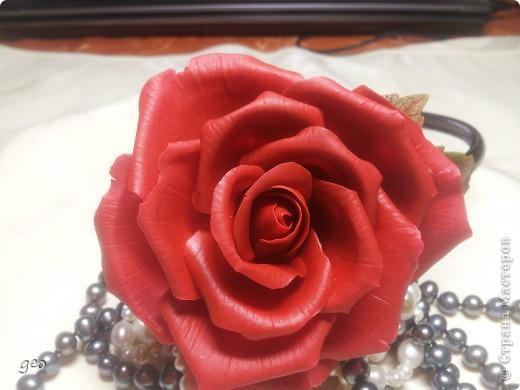 Хотелось сделать что то в стиле фламенко,  получилось что то. Мне кажется что с розами я не дружу. Ужас, жуть, кошмар!!!!!!!! Скажите что думаете, по моему мнению мусор!!!!!!!!! фото 6