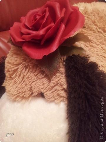 Хотелось сделать что то в стиле фламенко,  получилось что то. Мне кажется что с розами я не дружу. Ужас, жуть, кошмар!!!!!!!! Скажите что думаете, по моему мнению мусор!!!!!!!!! фото 5
