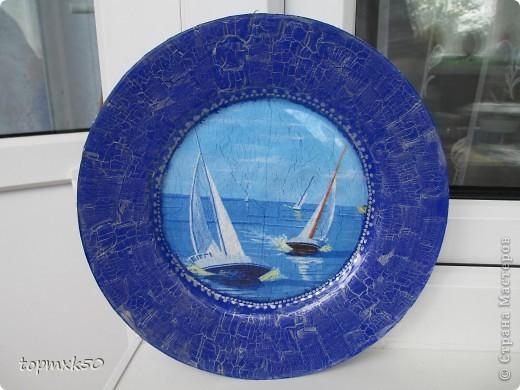 Обратный декупаж тарелок фото 2