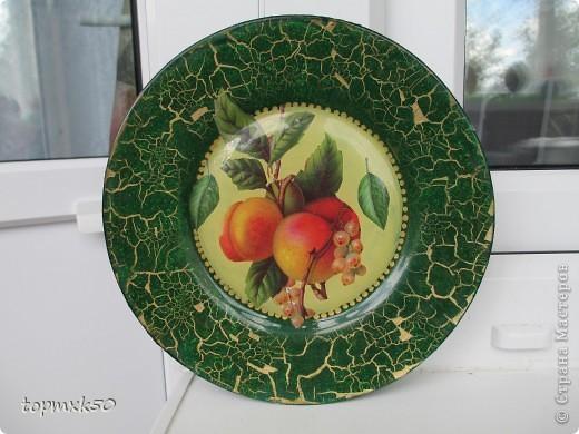 Обратный декупаж тарелок фото 3