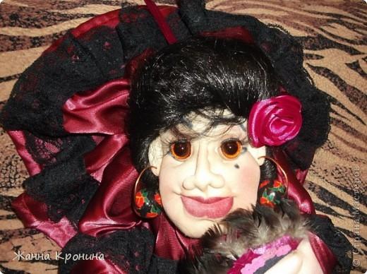 """Попросили меня нашить разных куколок """" попиков"""".Персонажей я должна придумать сама. Вот я и изголяюсь... ,это испанка- танцовщица """"фламенко"""" фото 1"""