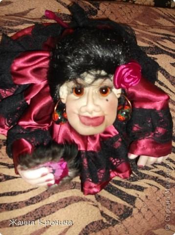 """Попросили меня нашить разных куколок """" попиков"""".Персонажей я должна придумать сама. Вот я и изголяюсь... ,это испанка- танцовщица """"фламенко"""" фото 2"""