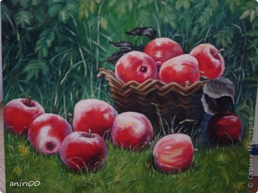 Яблоки, масло, двп