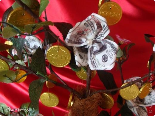 """Вот такой подарок решили преподнести  одноклассники имениннику))) Это денежное дерево, машинка с ракетной установкой(в память о службе в ПВО) и бутылочка с грузинским """"горючим""""))) фото 3"""