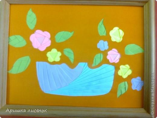 Вот такая корзинка с цветами. фото 1