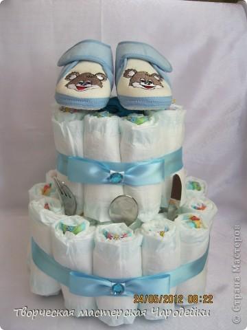 Многоуважаемые жители страны!!! Хочу представить свои торты из памперсов фото 6