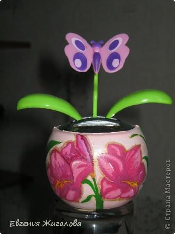 Захотелось чтобы бабочка над цветочком порхала:))) фото 1