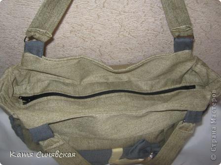 Моя новая сумочка.Сшита по просьбе кумы,определённых пожеланий не высказала,попросила чтоб было красиво и подходило как к спортивной одежде так и к другой. фото 4