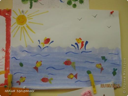 рыбки - отпечатки пальчиками фото 1