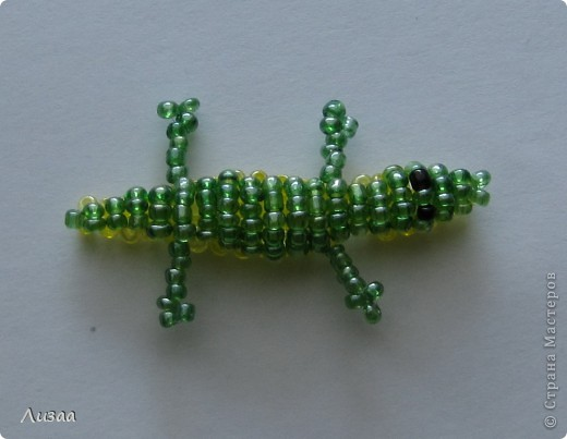 Мой первый крокодил. Мастер класс Виктории Катамашвили http://www.mylovelybeads.com/php/class/previewClass.php?num=1&key=crocodile&lan=ru .Вот фото. фото 1