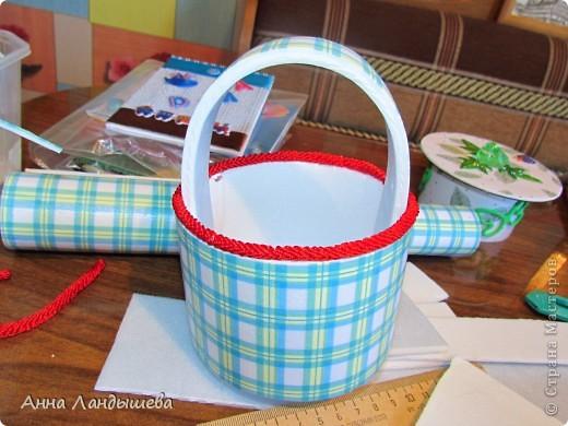 Сотворилась) Корзиночка подарочная, под сладкий подарочек или под интересные мелочи) фото 12