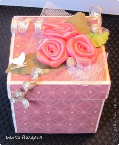Здравствуйте! Сегодня хочу показать Вам коробочку для упаковки подарка! Размер 10х10х10 фото 2