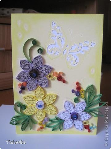 Добрый вечер!! У меня еще одна открыточка. Делала для моей двоюродной сестры... фото 1