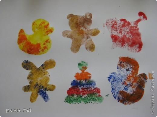 Нарисуйте свои любимые игрушки используя обычную губку и краски))))))))))))))) фото 5