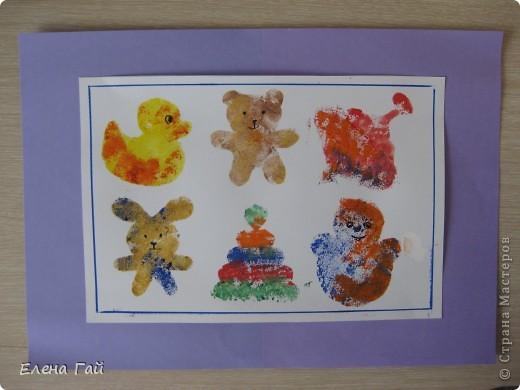 Нарисуйте свои любимые игрушки используя обычную губку и краски))))))))))))))) фото 1