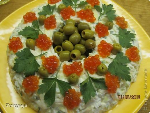 Очень нарядный и вкусный салат! фото 9