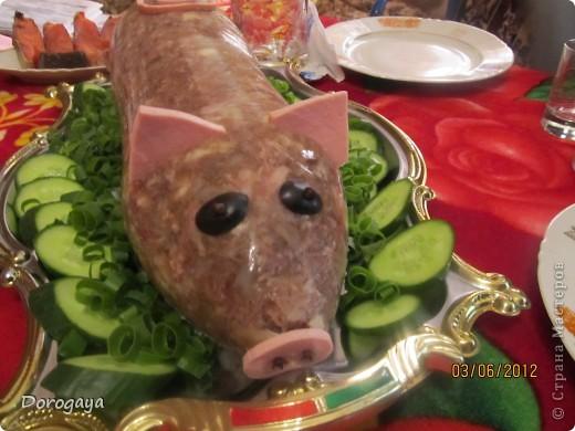 Кулинария 23 февраля 8 марта День рождения Новый год Рождество Холодец - хрюшка - Продукты пищевые фото 3