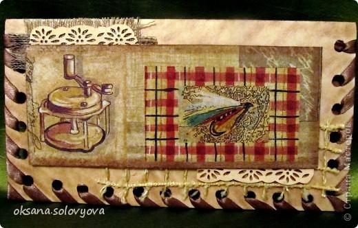 Здравствуйте милые Мастерицы, я опять к вам с открыточкой и конвертом для денежки. Правду говорят... как корабль ты назовешь так он и поплывет...вот и я сделала первый шаг в скрапе с мужской открытки  и ...опять нужна мужская открытка, а так хочется цветочков, бабочек, кружавчиков.. фото 7
