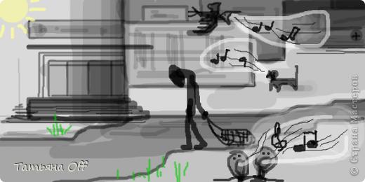 """Наводила ревизию в своем компе.Наткнулась на рисунки,сделанные в Paint.Мы с подругой перекидывались ими,загадывая в каждом какую-то песню.Это,к примеру,Иванушки Int. """"Снегири"""".Лично нам во время угадывания было очччень весело.Предлагаю и Вам немного поразвлечься :) З.Ы.По мере угадывания картинки будут подписаны.Удачи))) фото 8"""