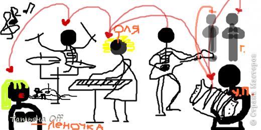 """Наводила ревизию в своем компе.Наткнулась на рисунки,сделанные в Paint.Мы с подругой перекидывались ими,загадывая в каждом какую-то песню.Это,к примеру,Иванушки Int. """"Снегири"""".Лично нам во время угадывания было очччень весело.Предлагаю и Вам немного поразвлечься :) З.Ы.По мере угадывания картинки будут подписаны.Удачи))) фото 21"""