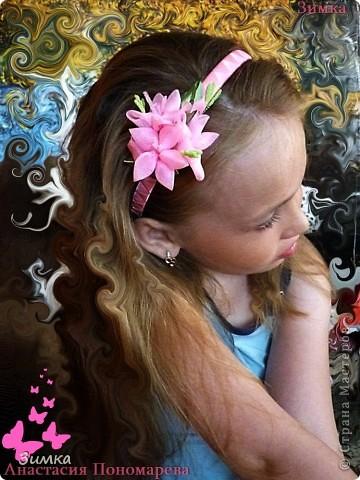 """Обруч для волос """"РОЗОВЫЙ ВЕЧЕР"""" фото 12"""