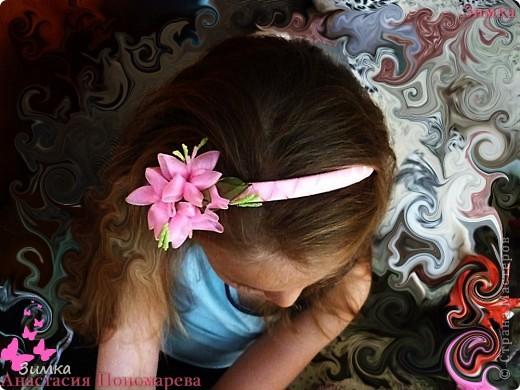 """Обруч для волос """"РОЗОВЫЙ ВЕЧЕР"""" фото 15"""
