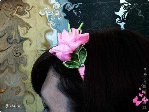 """Обруч для волос """"РОЗОВЫЙ ВЕЧЕР"""" фото 8"""
