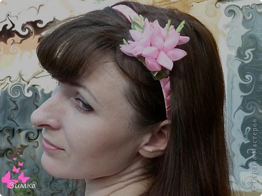 """Обруч для волос """"РОЗОВЫЙ ВЕЧЕР"""" фото 7"""