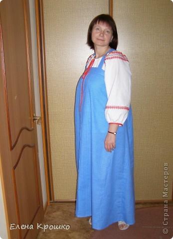 Косоклинный сарафан - классический русский крой сарафана. Так что у меня получилась своеобразная реконструкция народного костюма. фото 2
