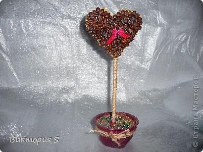 Также на день рождения изготовила кофейное сердечко. фото 1