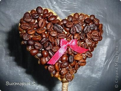 Также на день рождения изготовила кофейное сердечко. фото 2