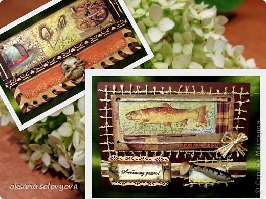 Здравствуйте милые Мастерицы, я опять к вам с открыточкой и конвертом для денежки. Правду говорят... как корабль ты назовешь так он и поплывет...вот и я сделала первый шаг в скрапе с мужской открытки  и ...опять нужна мужская открытка, а так хочется цветочков, бабочек, кружавчиков.. фото 1