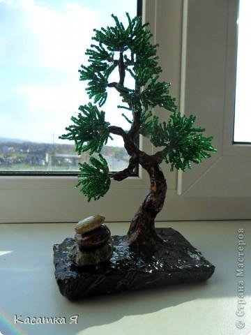 Деревья из бисера фото 5