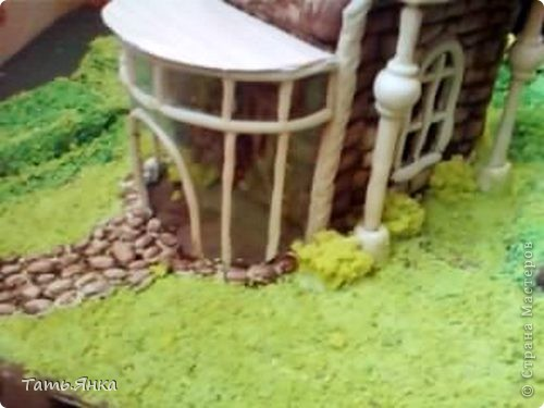 Создаем пейзаж для домиков из соленого теста фото 13