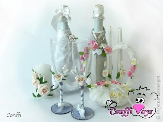 У брата была свадьба, естественно без подарков моими руками не обошлось )))  - дарила свадебный набор. фото 1