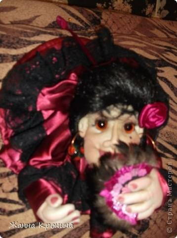 """Попросили меня нашить разных куколок """" попиков"""".Персонажей я должна придумать сама. Вот я и изголяюсь... ,это испанка- танцовщица """"фламенко"""" фото 3"""