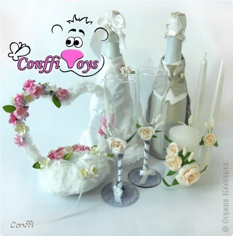 У брата была свадьба, естественно без подарков моими руками не обошлось )))  - дарила свадебный набор. фото 6