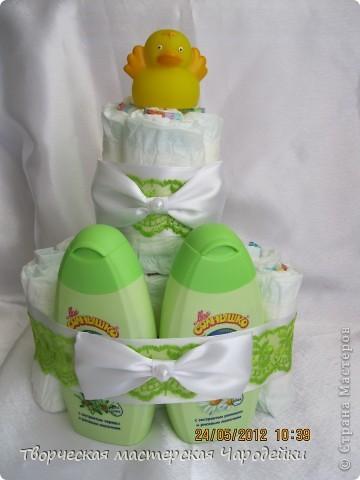 Многоуважаемые жители страны!!! Хочу представить свои торты из памперсов фото 7