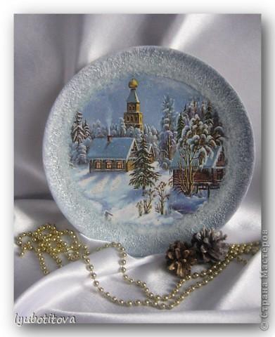 "мои тарелочки "" зимняя серия"" фото 5"