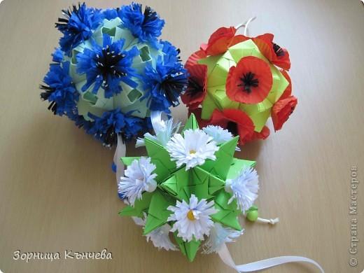 """Кусудамы """"Полевые цветы""""  фото 1"""