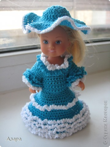 Рост кукол 12 см)  Платье для маленькой леди) фото 1
