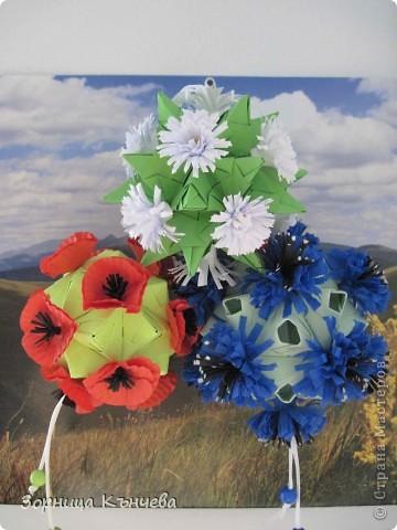 """Кусудамы """"Полевые цветы""""  фото 5"""