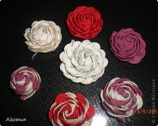 розы из тесьмы. фото 4