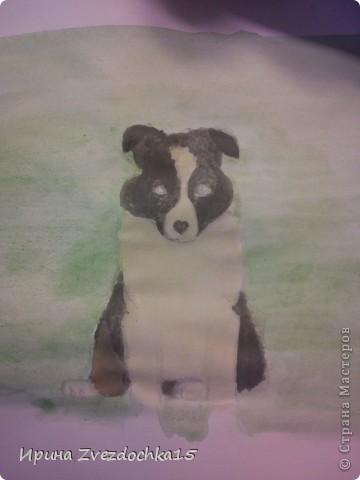 Срисовывала с картинки в интернете. Честно говоря я не очень красками рисую. По душе простой карандаш. Но решила попробовать и срисовать что-нибудь интересное) фото 3