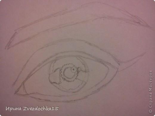 Ранее я уже рисовала глаз и выкладывала его сюда, но он выполнялся по уроку. Сейчас я просто срисовывала с картинки интернета. Использовала для этого такие карандаши как 4H, 3H, 2H, H, HB, B, 2B, 3B, 4B, 5B, 6B.  фото 2