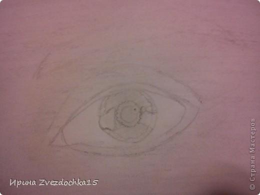Ранее я уже рисовала глаз и выкладывала его сюда, но он выполнялся по уроку. Сейчас я просто срисовывала с картинки интернета. Использовала для этого такие карандаши как 4H, 3H, 2H, H, HB, B, 2B, 3B, 4B, 5B, 6B.  фото 4