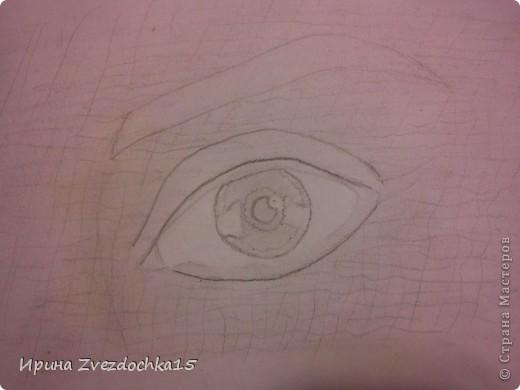 Ранее я уже рисовала глаз и выкладывала его сюда, но он выполнялся по уроку. Сейчас я просто срисовывала с картинки интернета. Использовала для этого такие карандаши как 4H, 3H, 2H, H, HB, B, 2B, 3B, 4B, 5B, 6B.  фото 6