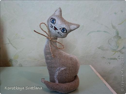 Очень понравилось шить игрушки. Это мама с котенком чайно-кофейные. Рисовала акриловыми красками. фото 4